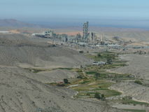 Fabbrica del cemento vicino a Arequipa Perù Fotografia Stock Libera da Diritti