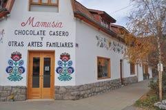 Fabbrica del cioccolato nella città San Martin de los le Ande Immagini Stock