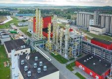 Fabbrica del combustibile biologico Immagine Stock