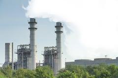 Fabbrica del gas naturale Fotografia Stock Libera da Diritti