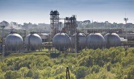 Fabbrica del prodotto chimico di raffinazione del petrolio Fotografia Stock