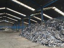 Fabbrica del residuo del ferro Fotografia Stock Libera da Diritti