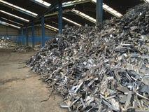 Fabbrica del residuo del ferro Fotografie Stock Libere da Diritti