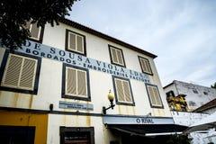 Fabbrica del ricamo a Funchal Madera Portogallo fotografie stock
