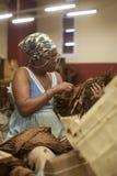 Fabbrica del sigaro a Avana, Cuba Immagini Stock Libere da Diritti