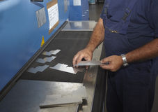 Fabbrica dell'alluminio di taglio del laser Immagine Stock