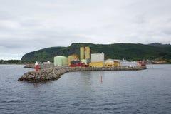 Fabbrica dell'olio di pesce Fotografie Stock Libere da Diritti
