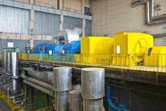 Fabbrica della centrale elettrica Fotografia Stock