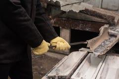 Fabbrica della fusione dei metalli Fotografia Stock