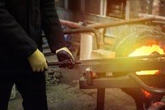 Fabbrica della fusione dei metalli Fotografia Stock Libera da Diritti