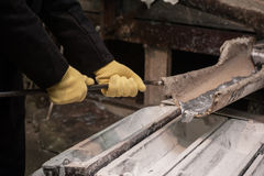 Fabbrica della fusione dei metalli Immagine Stock Libera da Diritti