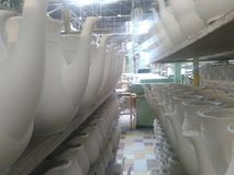 Fabbrica della porcellana Fotografia Stock