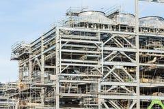 Fabbrica della raffineria con il LNG Fotografia Stock Libera da Diritti