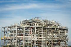 Fabbrica della raffineria di LNG Fotografia Stock Libera da Diritti