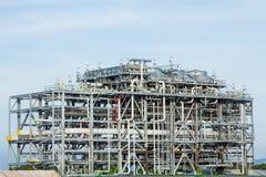 Fabbrica della raffineria di LNG - immagine di riserva Immagini Stock Libere da Diritti