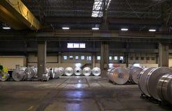 Fabbrica di alluminio dello strato Fotografie Stock