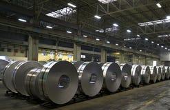 Fabbrica di alluminio dello strato Immagini Stock Libere da Diritti