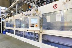 Fabbrica di alta tecnologia - produzione delle pile solari - macchinario e dentro Fotografie Stock