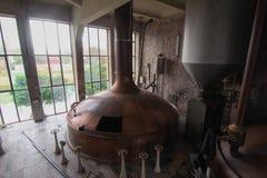 Fabbrica di birra abbandonata Fotografia Stock