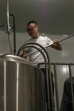 Fabbrica di birra cinese della birra del mestiere Fotografie Stock Libere da Diritti