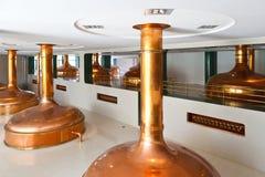 Fabbrica di birra di Pilsner Urquell dal 1839, Plzen, repubblica Ceca Immagini Stock