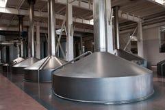 Fabbrica di birra moderna Fotografie Stock