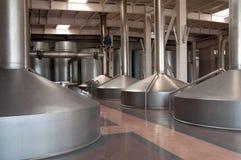 Fabbrica di birra moderna Immagini Stock