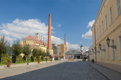 Fabbrica di birra - Pilsner Urquell Immagini Stock Libere da Diritti