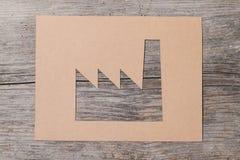 Fabbrica di carta Fotografie Stock