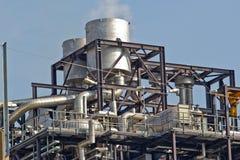 Fabbrica di elaborazione del gas Fotografie Stock