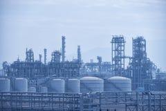 Fabbrica di elaborazione del gas Immagini Stock