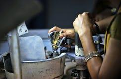 Fabbrica di elaborazione della pietra preziosa, Sri Lanka Fotografie Stock Libere da Diritti