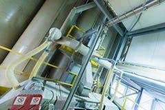 Fabbrica di fabbricazione, produzione alta tecnologia moderna Fotografie Stock Libere da Diritti
