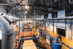 Fabbrica di fabbricazione, produzione alta tecnologia moderna Fotografia Stock