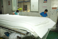 Fabbrica di filtro dell'aria in Cina Fotografia Stock