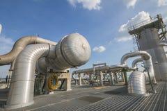 Fabbrica di industriale del prodotto chimico e del petrolio Fotografia Stock Libera da Diritti