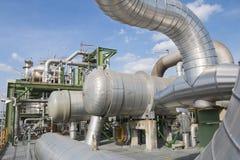 Fabbrica di industriale del prodotto chimico e del petrolio Fotografia Stock