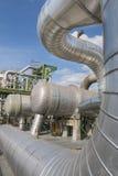 Fabbrica di industriale del prodotto chimico e del petrolio Fotografie Stock Libere da Diritti