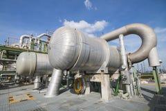 Fabbrica di industriale del prodotto chimico e del petrolio Fotografie Stock