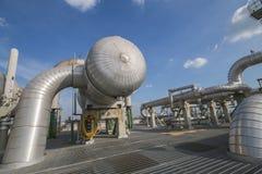 Fabbrica di industriale del prodotto chimico e del petrolio Immagini Stock Libere da Diritti
