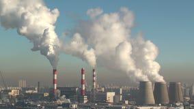 Fabbrica di inquinamento video d archivio