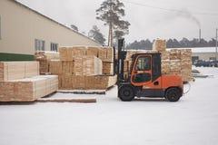 Fabbrica di legno Immagine Stock