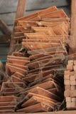 Fabbrica di legno del mulino di tradizione in Tailandia Fotografia Stock