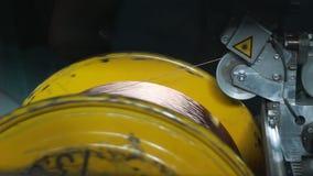 Fabbrica di produzione del cavo video d archivio