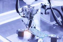 Fabbrica di produzione del microchip Processo tecnologico immagini stock libere da diritti