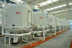 Fabbrica di purificazione di acqua fotografia stock libera da diritti
