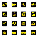 Fabbrica e simboli di industria Fotografie Stock