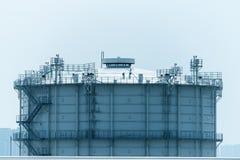 Fabbrica elaborante del gas paesaggio Fotografia Stock Libera da Diritti