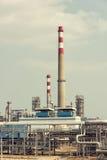 Fabbrica elaborante del gas paesaggio immagine stock libera da diritti