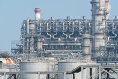 Fabbrica elaborante del gas paesaggio Fotografie Stock